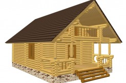 Дом с террасой и балконом.