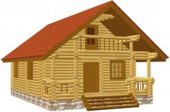 Уютный деревянный дом с баней