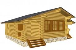Одноэтажный дом-баня