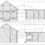 проект разбревновки гаража