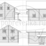 проект разбревновки дома с гаражом