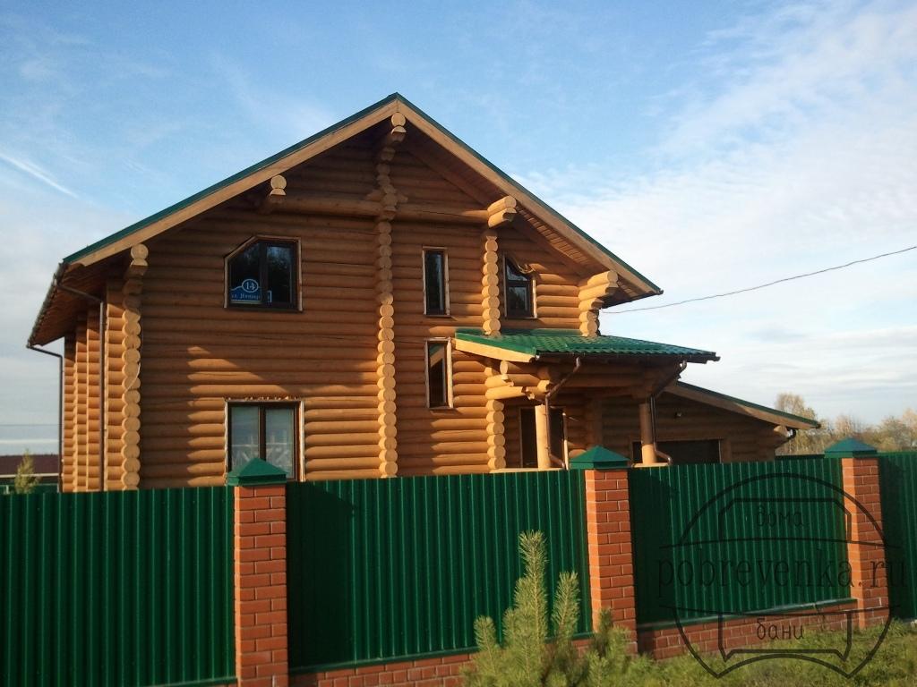 Дом из бревна 260