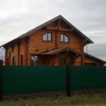 Построенный деревянный дом фото