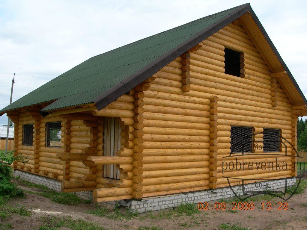 Дом из бревна 220