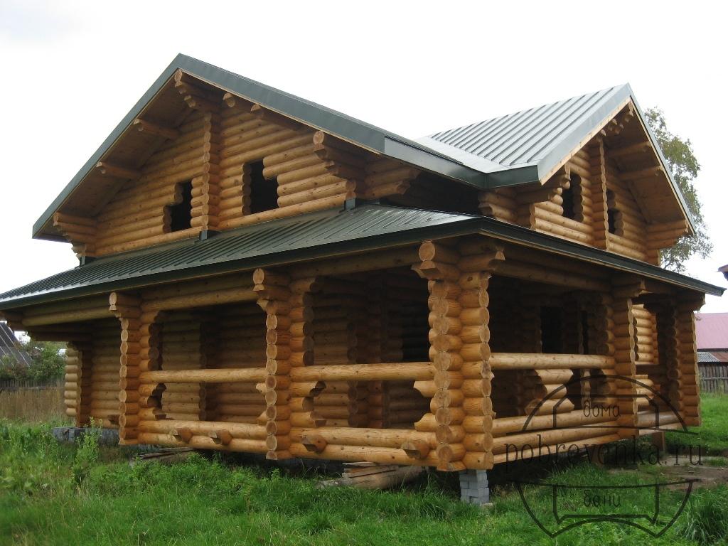 Дом из бревна 240