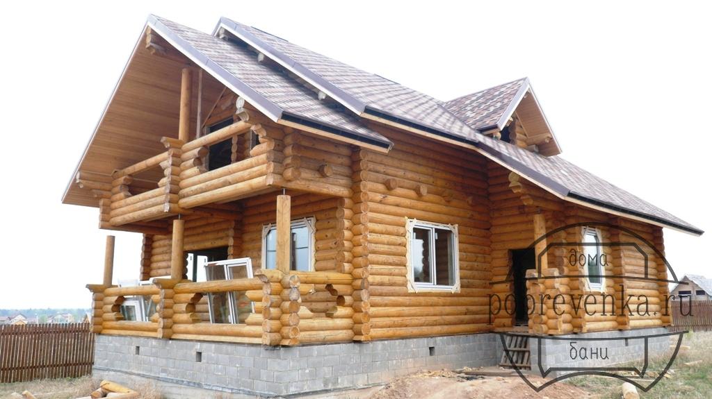 Дом из бревна 24 см.