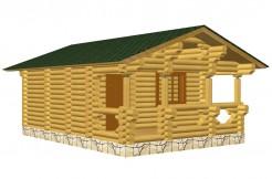 Одноэтажный проект бани