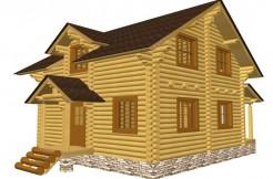 Дом из бревна 8 на 8