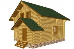 Проект дома из оцилиндрованного бревна 28см