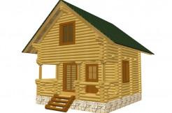 Дом из бревна 6 на 6м