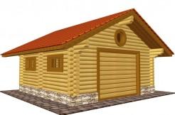 Деревянный гараж 6 на 6м