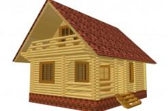 бюджетный дом из бревна
