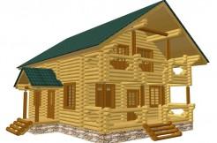 Проект деревянного дома из бревна 260мм