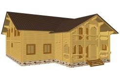 Дом-гостиница из бревна